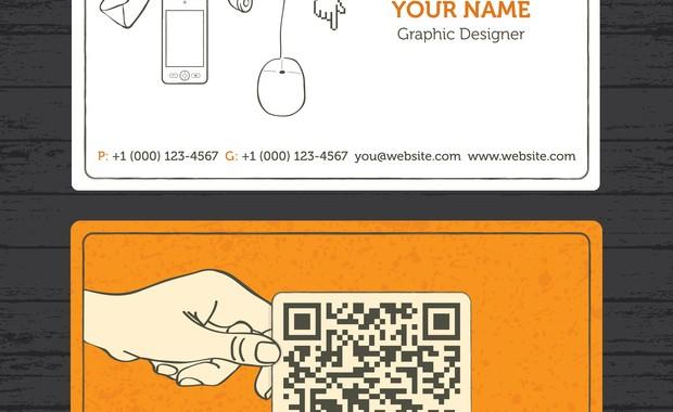 Lutilite Dun QR Code Sur Une Carte De Visite