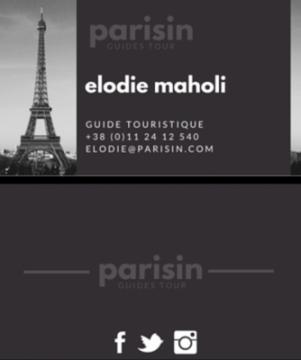 Une bonne cartes de visite pour un bon guide touristique !