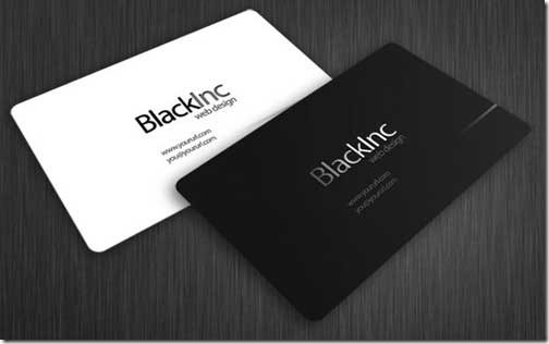 Carte de visite black and white