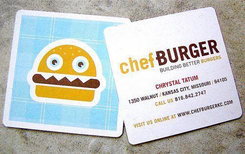 Carte de visite a burger