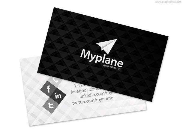 Carte de visite paper plane