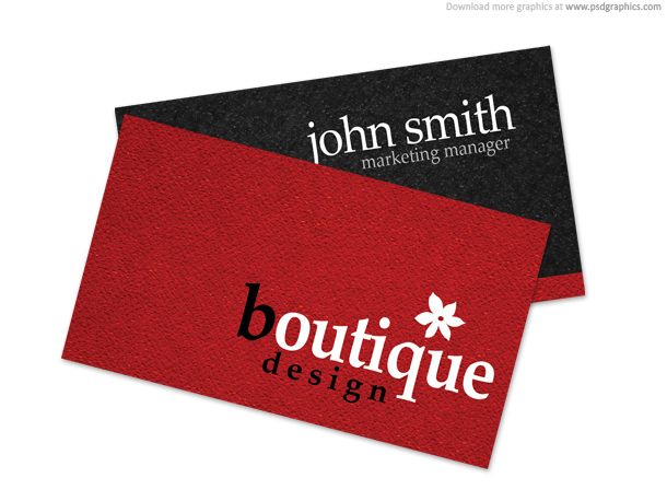 Carte de visite boutique design