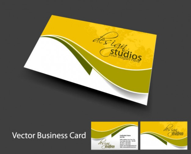 Carte De Visite Yellow Design