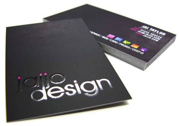 Carte de visite black design