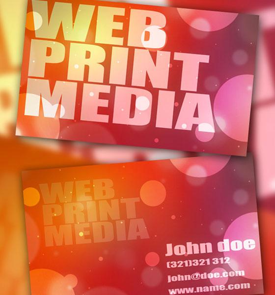 Carte de visite print  media