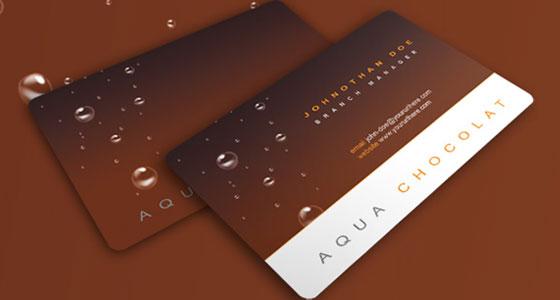 Carte de visite aqua chocolat