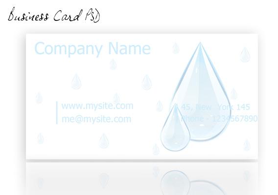 Carte de visite goute d'eau