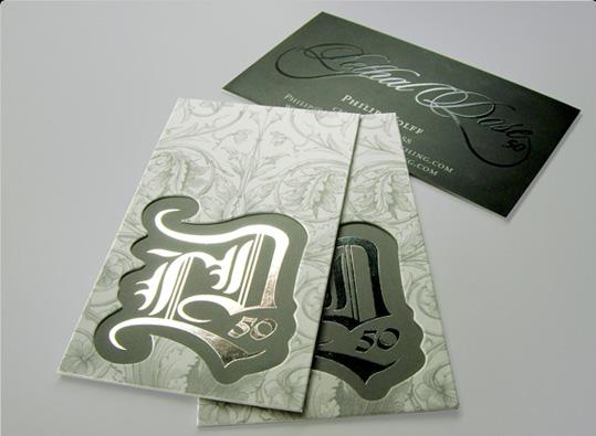 Carte de visite design style
