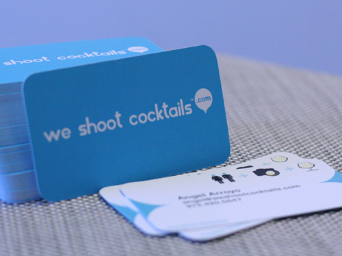 Carte de visite we shoot cocktails