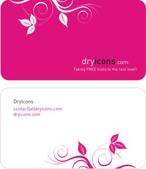 Carte de visite pink dry icon
