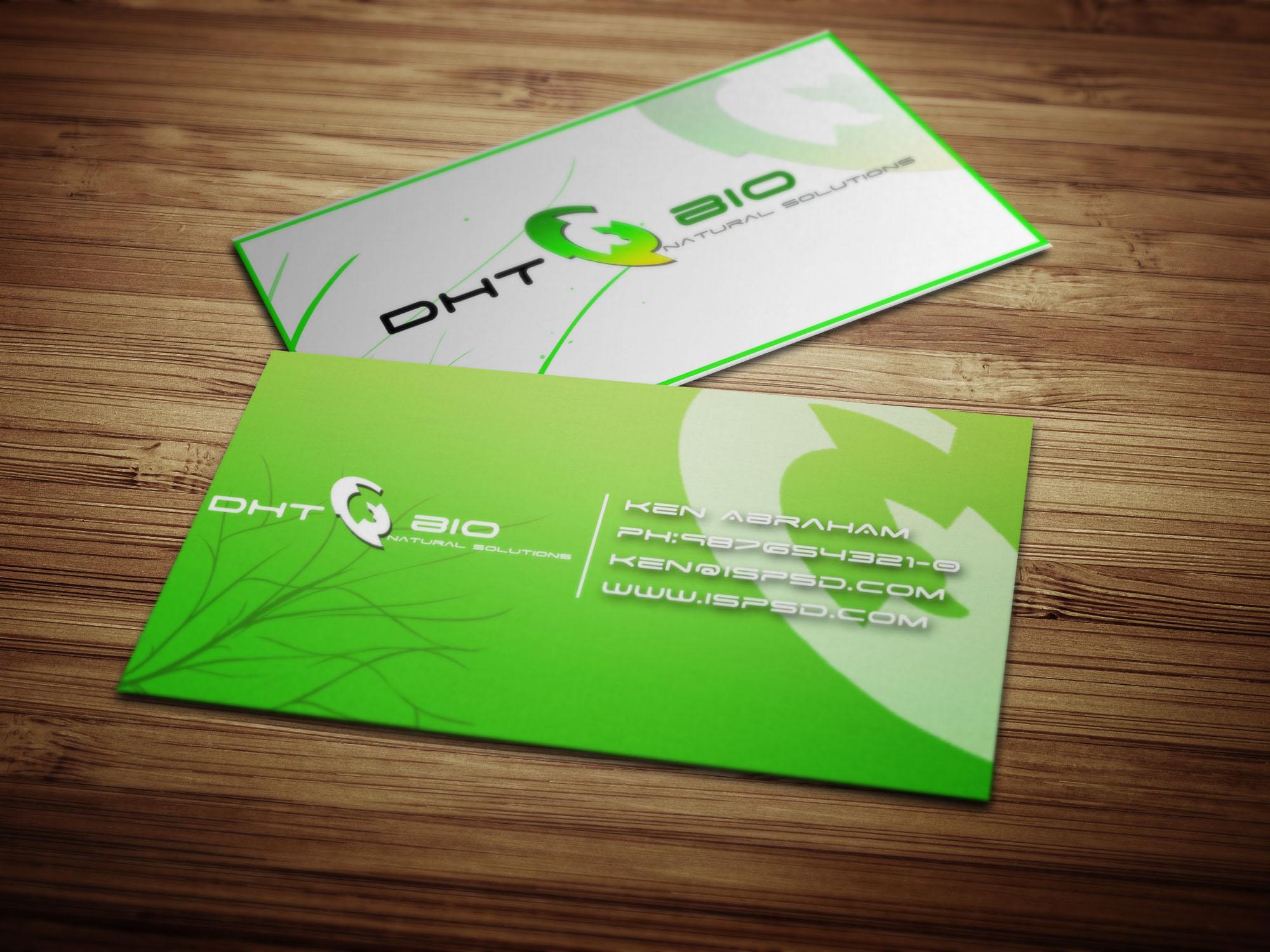 Carte de visite green