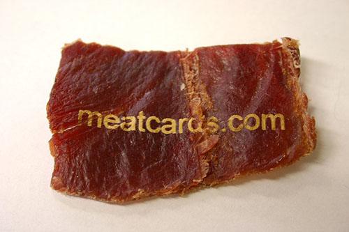 Carte de visite meat