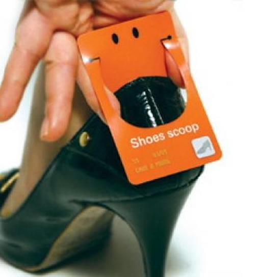 Carte de visite à chaussure