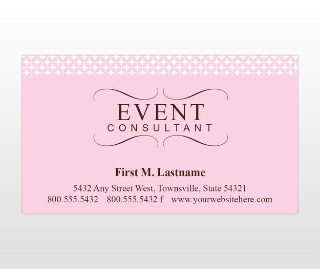 Carte de visite event consultant